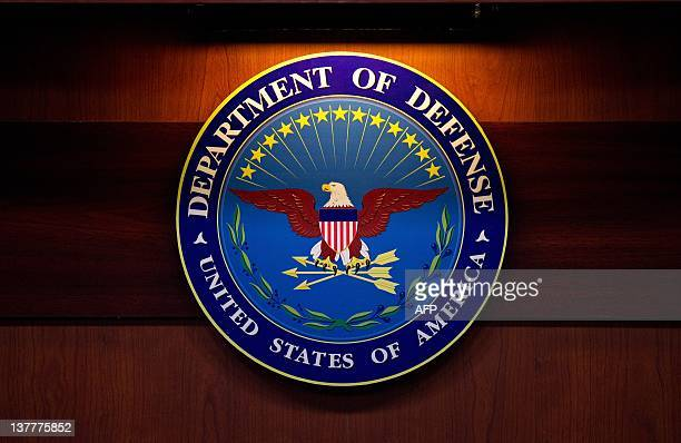 A plaque of the Department of Defense seal is seen January 26 2012 at the Pentagon in Washington DC AFP PHOTO/Mandel NGAN