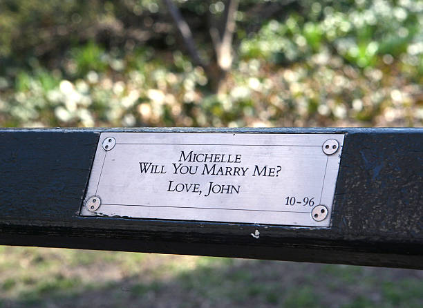 A plaque on a bench near the Central Park Zoo, inscribed, 'M