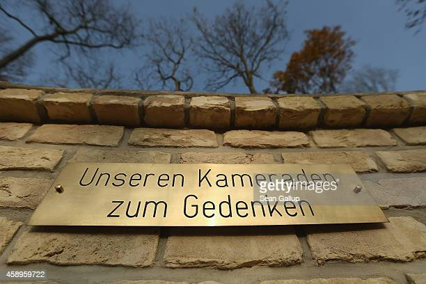 A plaque reads In memoriam of our comrades at an original memorial erected by soldiers of the Bundeswehr the German armed forces at their operations...
