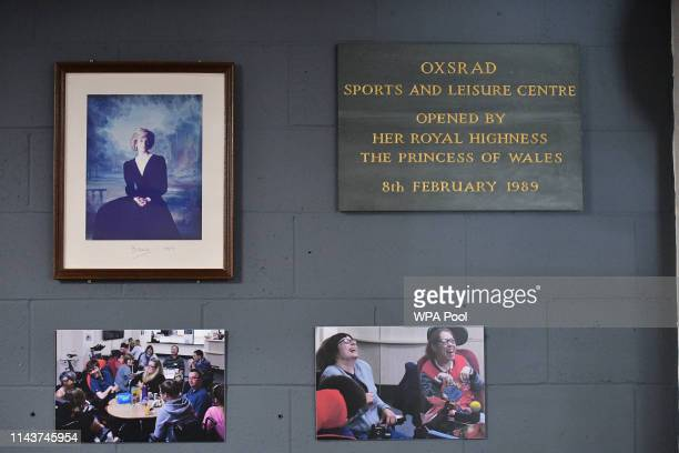 A plaque to commemorates Prince Harry Duke of Sussex visit to OXSRAD Disability Sports and Leisure Centre on May 14 2019 in Oxford England