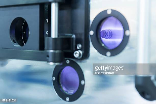 Plasma reactor detail in graphene processing factory
