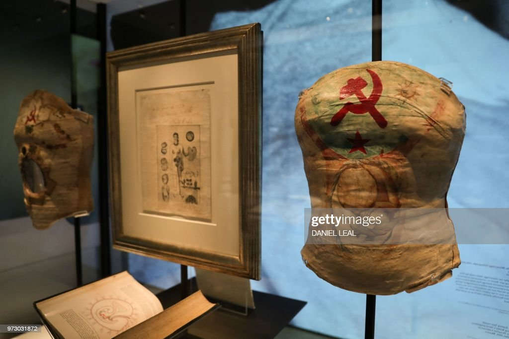 A plaster corset, about 1950, Mexico is displayed during an ...