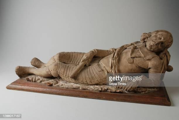 Plaster model of the statue in the Laurenskerk of Admiral Witte Cornelisz de With, grave monument sculpture sculpture model wood plaster, Plaster...