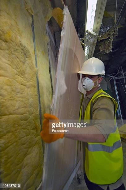 Plasterboard recycling during demolition of an office block, London, UK