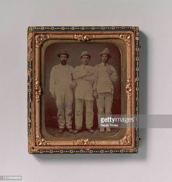 Plasterers and Painters, 1870s-80s, Tintype, Image: 6.9 x 5.6 cm , Photographs, Unknown .