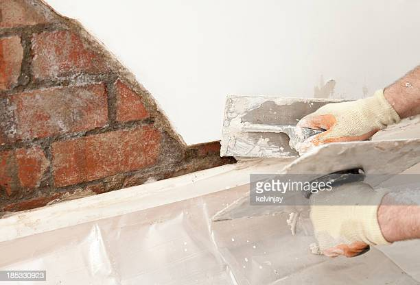 Plastering eine Wand