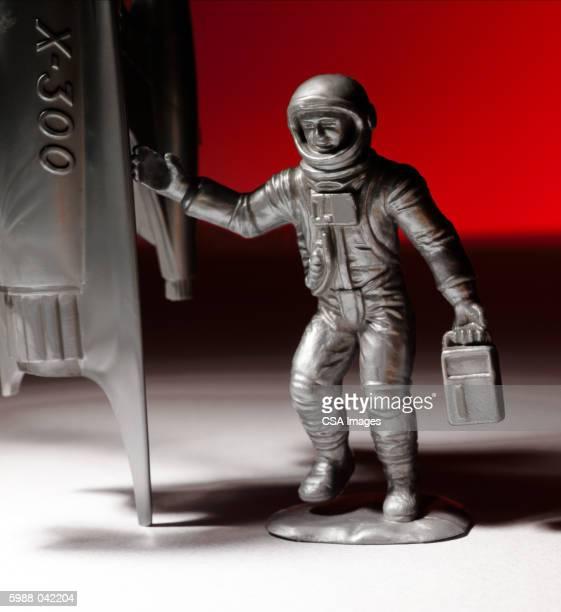 Plastic Astronaut with Rocket