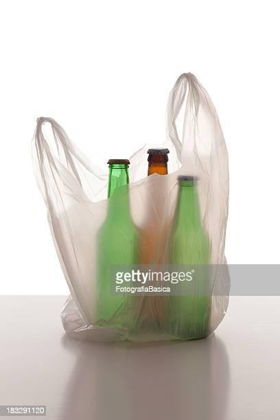 Plastic bag and bottles