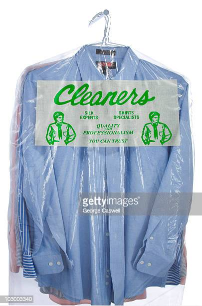 Plastic Bag of Dry Cleaned Shirts