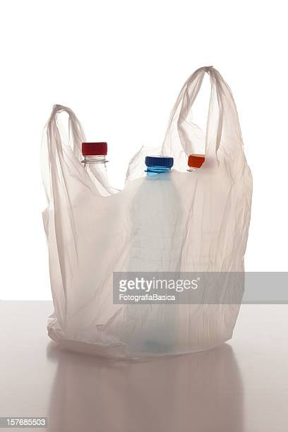 Plastic bag with bottles
