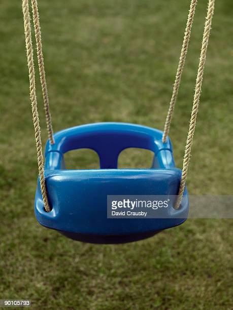 plastic blue swing - crausby stock pictures, royalty-free photos & images