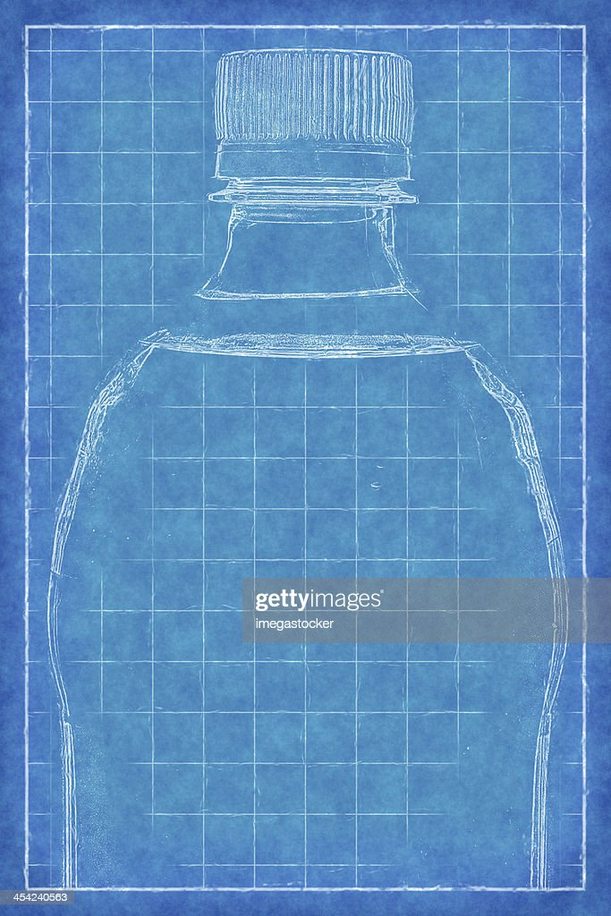 Plastic bottle - Blue Print : Stock Photo