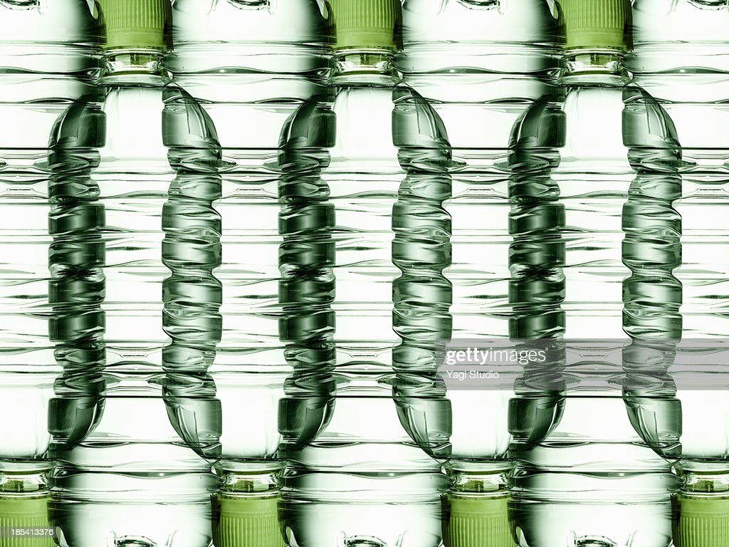 Plastic bottle of mineral water : Stock Photo