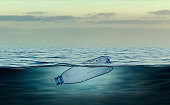 Plastic bottle, pollution that floats in the ocean