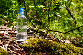 plastic bottle with fresh drinking water