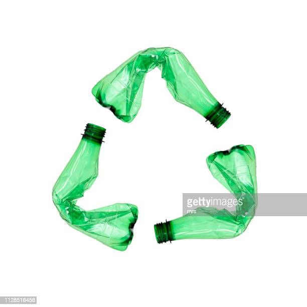 plastic bottles for recycle - plastic stockfoto's en -beelden