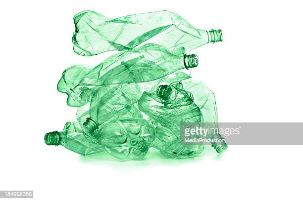 plastic bottles for recycle - heap stock pictures, royalty-free photos & images