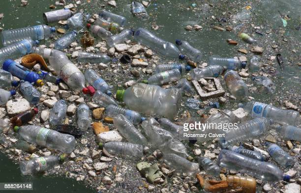 floating plastic bottles other waste indian