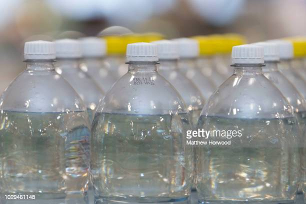 Plastic bottles of fizzy drinks seen on sale in a supermarket on August 30, 2018 in Cardiff, United Kingdom.