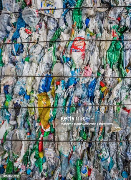 Plastic bottles ready to be recycled