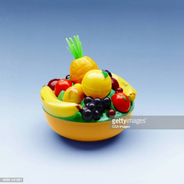 plastic bowl of fruit - artificial stock pictures, royalty-free photos & images