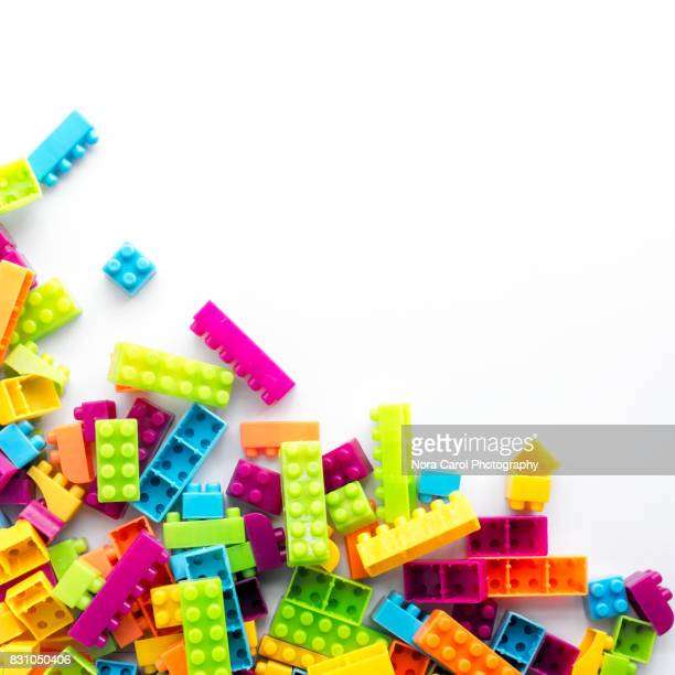 Plastic Building Block On White Background