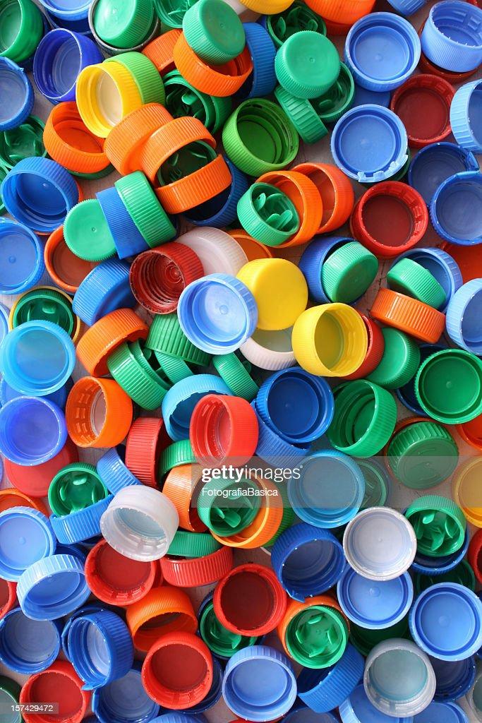 Plastic caps background : Stock Photo