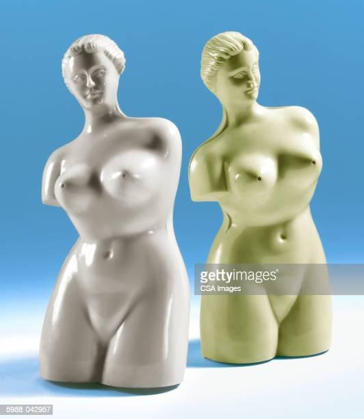 Plastic Classical Statues