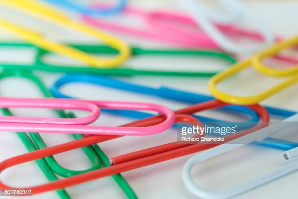 plastic covered paper clips - morpeth stock pictures, royalty-free photos & images