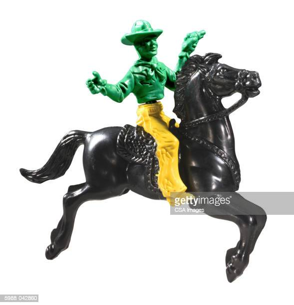 Plastic Cowboy on Horse