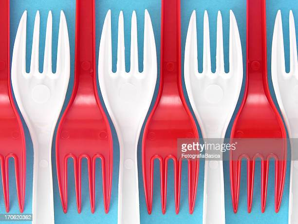 plastic forks - disposable stock photos and pictures