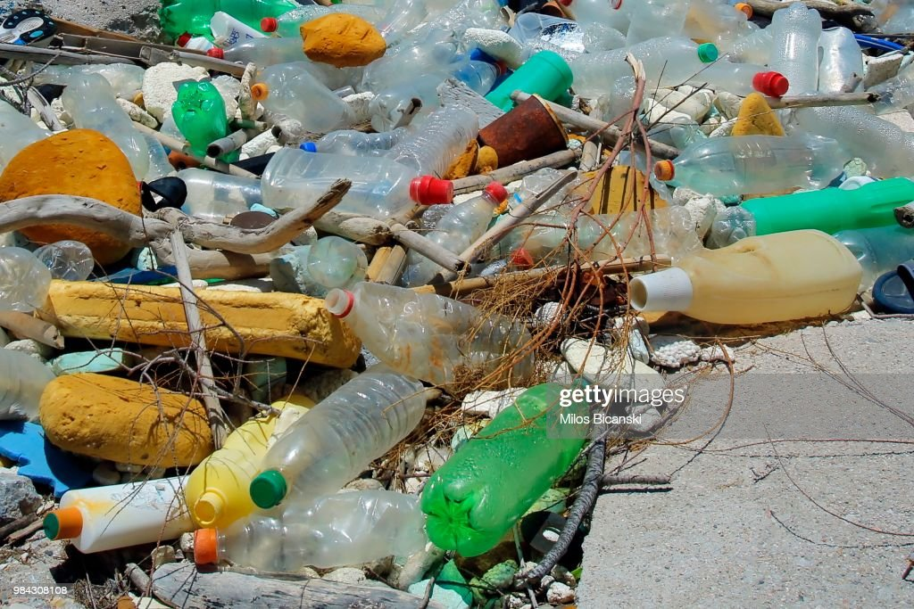 Tourists Leave Mountains Of Plastic Waste On Greek Beaches : News Photo