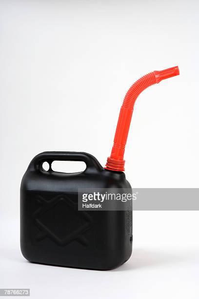 a plastic gas can - becco foto e immagini stock
