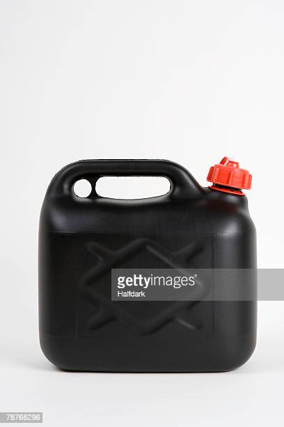 A plastic gas can
