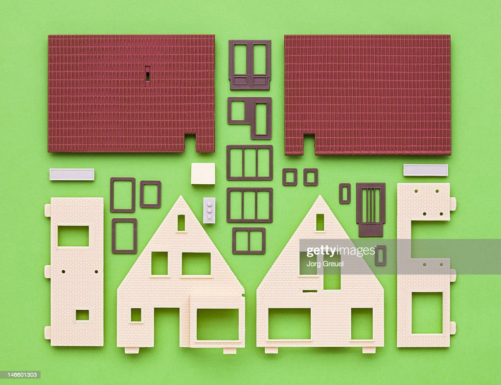 Plastic house model building kit : Foto de stock