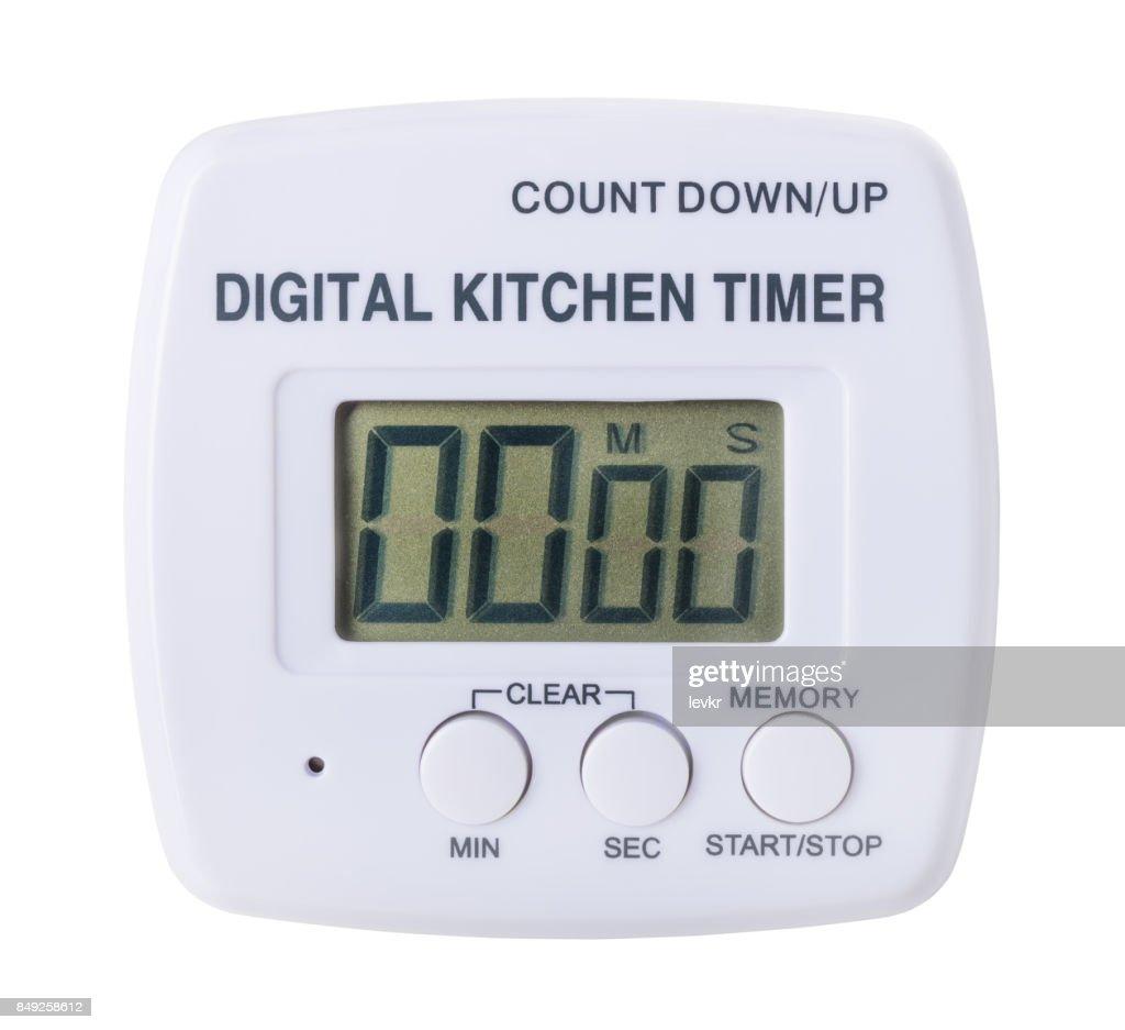 plastic kitchen digital timer : Stock Photo