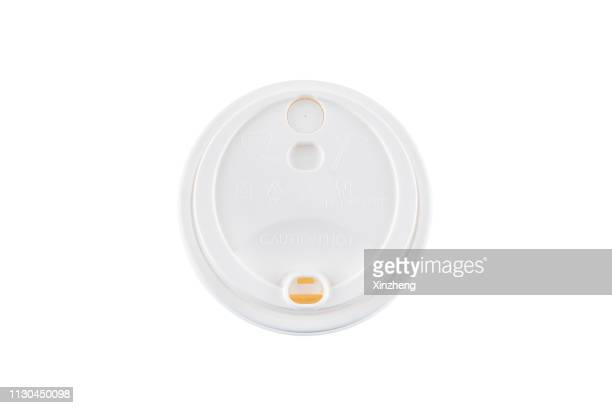 plastic lid of paper cup - lid stock photos and pictures