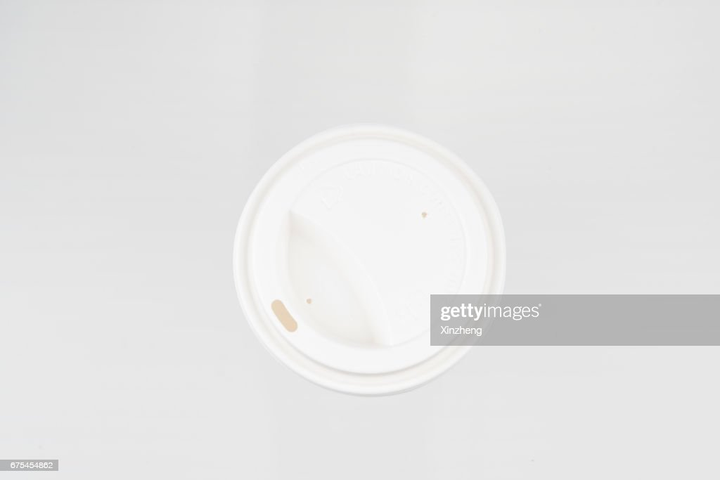 Plastic Lid of Paper Cup : Stock Photo