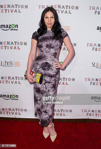 Plastic Martyr attends the 15th Annual Queen USA Transgender Beauty Pageant at The Theatre at Ace Hotel on October 22, 2016 in Los Angeles,...