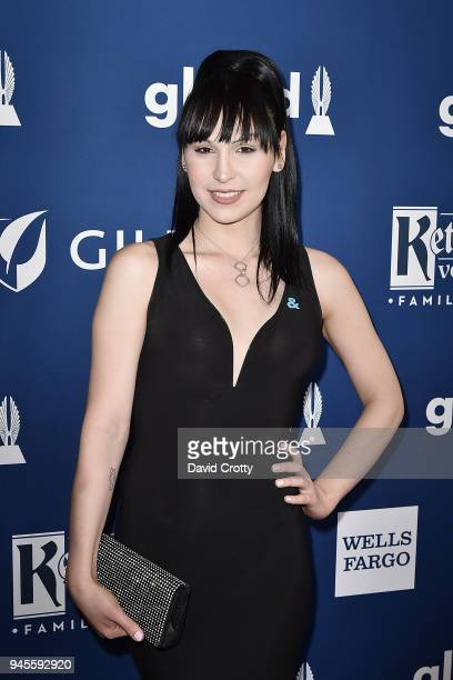 Plastic Martyr attends the 29th Annual GLAAD Media Awards - Arrivals at The Beverly Hilton Hotel on April 12, 2018 in Beverly Hills, California.