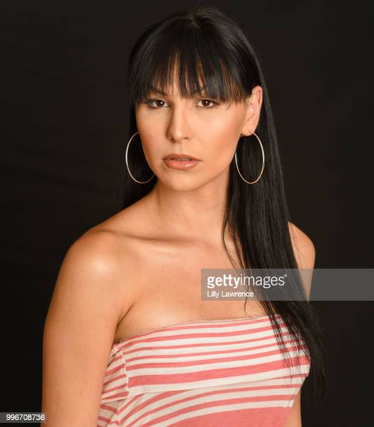 Plastic Martyr, wearing Moonstar Beauty, attends Giveback Day at The Artists Project on July 11, 2018 in Los Angeles, California.