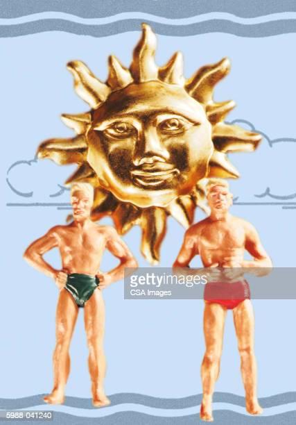 Plastic Men in Bathing Suits