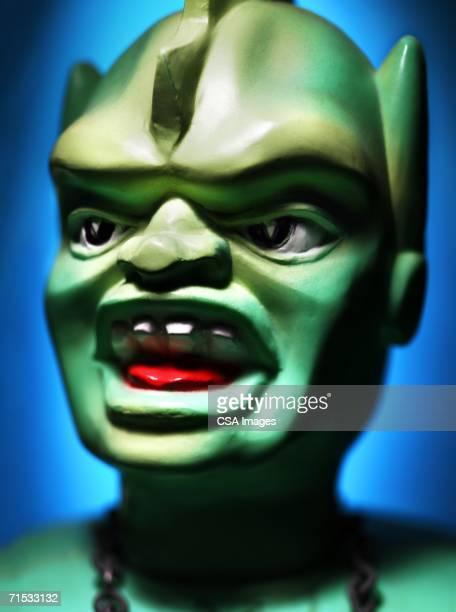 plastic monster head - scary monster ストックフォトと画像