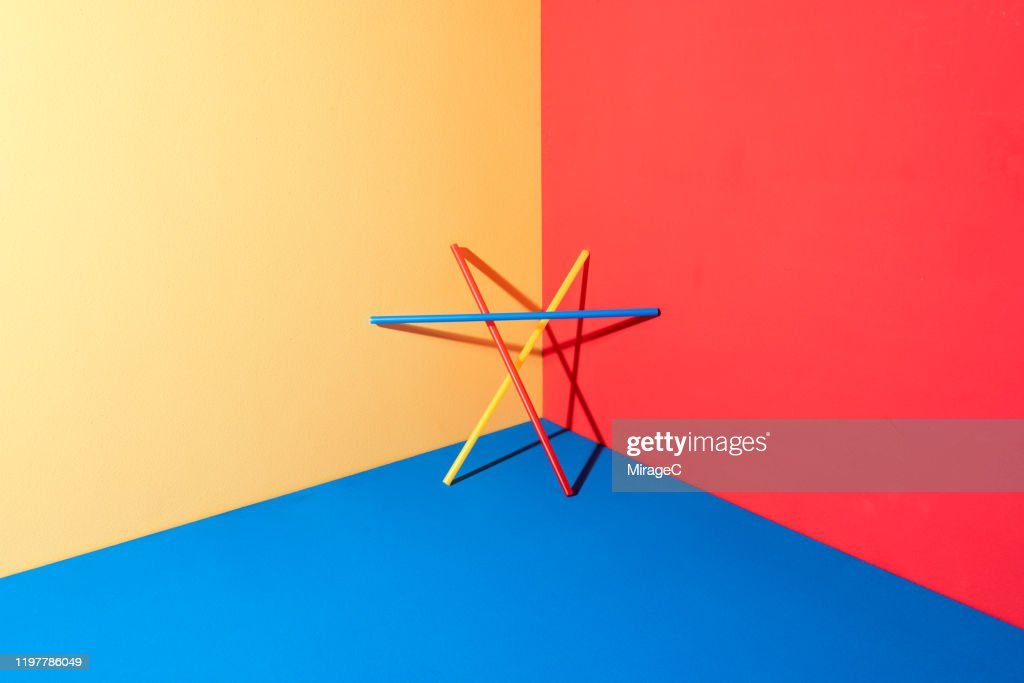 Plastic Pipe Triangle Structure : Stock Photo