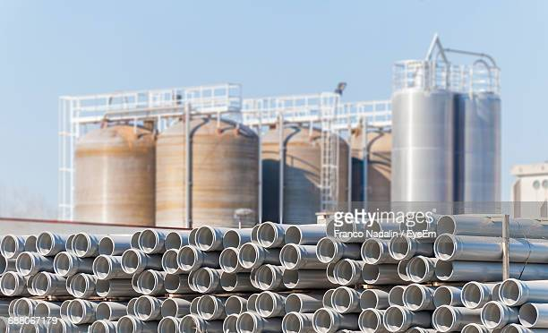 Plastic Pipes Against Chemical Plant