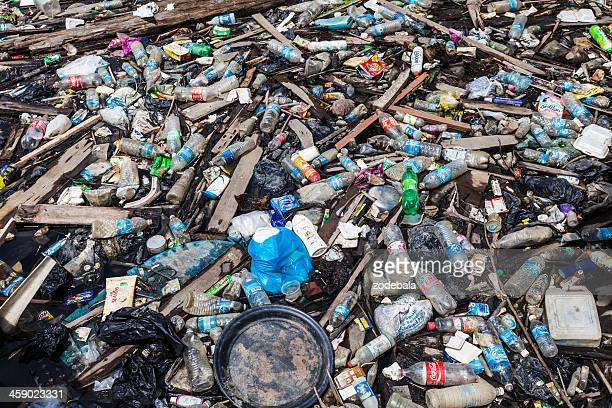 Plastic Pollution, Garbage Floating on Water