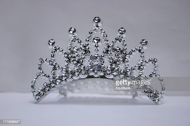 plastic princess - tiara stock pictures, royalty-free photos & images