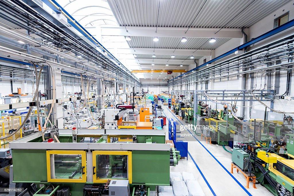 Plastic production line : Stock Photo