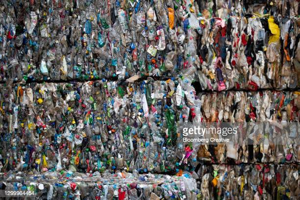 plastic recycling centre - south korea stock pictures, royalty-free photos & images