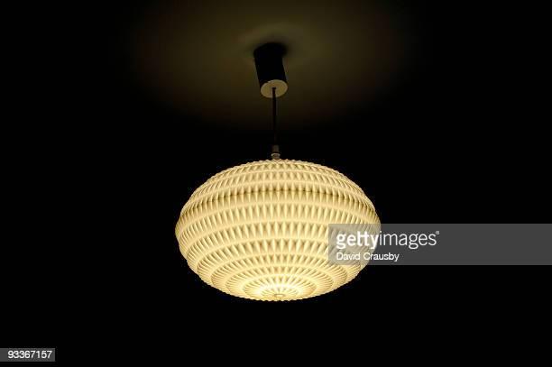Plastic retro bedroom light fitting